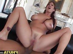 Anal Blowjob Brunette MILF Threesome