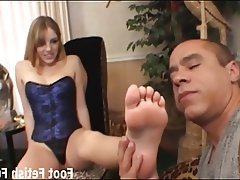 BDSM Femdom Foot Fetish Footjob Stockings