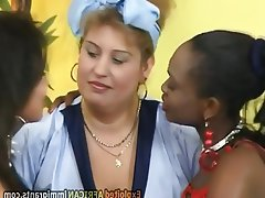 Threesome Interracial German Chubby