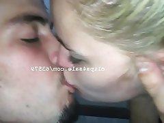 Amateur Blonde Kissing