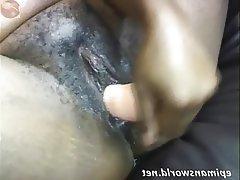 Amateur BBW Hairy Dildo