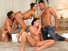 Czech Teen Foursome Foursome