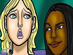 Lesbian Interracial MILF Threesome