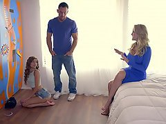 Threesome Boyfriend Teen Stepmom
