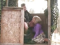 Anal Blonde Nerd Outdoor