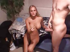 Babe Big Boobs Blowjob Handjob