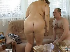 BBW Big Boobs Blowjob Granny
