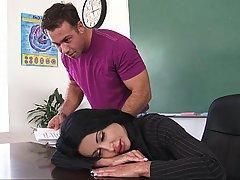 Sleeping Teacher College Coed