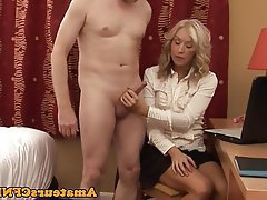 Handjob CFNM Wife Husband
