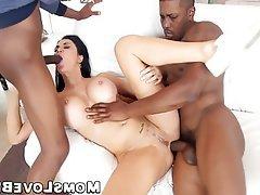 Anal Hardcore Interracial MILF Threesome
