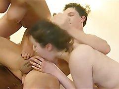 Anal Big Boobs Cumshot Threesome