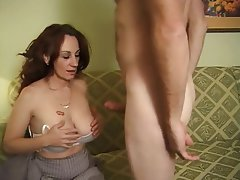 Big Boobs Brunette Granny Mature