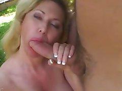 Big Boobs Blonde Blowjob Facial MILF