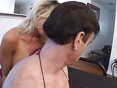 MILF Blowjob Big Boobs Blonde Facial
