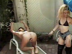 BDSM Blonde Femdom Strapon