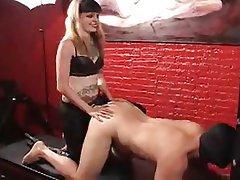 BDSM Femdom Latex Strapon