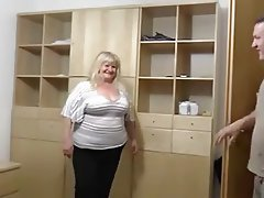 BBW Big Boobs Blonde Granny Hardcore