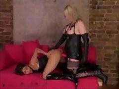 BDSM Femdom Latex Lesbian Strapon