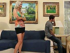 Babe Big Tits Blonde Housewife