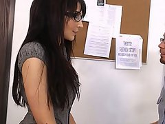 Blowjob Brunette Glasses MILF
