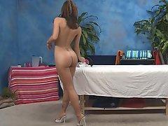 Brunette Massage Skinny Teen