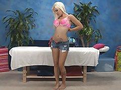 Babe Blonde Massage Pussy