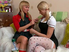 Babe Blonde Cute Lesbian