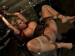 BDSM Blonde Black Fisting