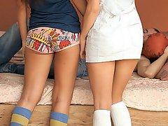 Babe Blowjob Brunette Cute Panties