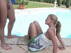 Babe Blonde Blowjob Cute