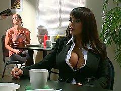 Big Tits Pornstar Blowjob Brunette
