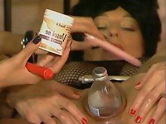Anal Brunette Close Up Dildo