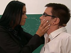 MILF Blowjob Brunette Teacher