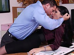 Office Secretary Stockings Blowjob