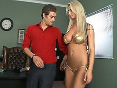 Blonde Boss Skinny Big Tits
