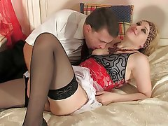 Anal Blonde Russian Stockings