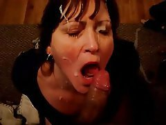 Amateur Facial Handjob