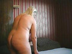 BBW Big Boobs Granny Masturbation