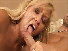 Blonde Blowjob Cumshot Hardcore