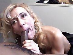 Blowjob Facial Interracial Blonde