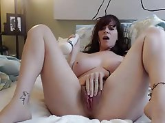 Big Boobs Masturbation MILF Redhead Webcam