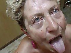 Blowjob Cumshot German Granny