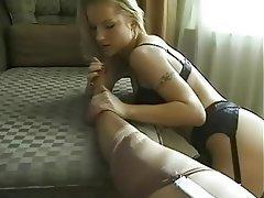 Babe Lesbian Lingerie Masturbation