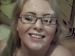 BBW Big Boobs Blonde Blowjob Facial