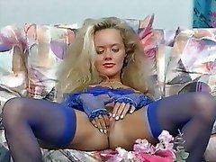 Blonde German Masturbation Pornstar
