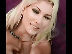 Blonde Cumshot Facial Pornstar POV