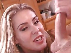 Blonde Blowjob Cumshot Facial Handjob