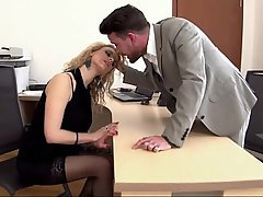 Blonde Blowjob Office Secretary