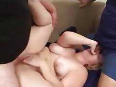 Anal BBW Stockings Threesome