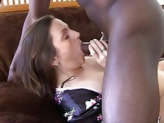 Blowjob Brunette Interracial Mature MILF